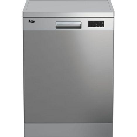 BEKO Lave vaisselle pose libre DFN15420X, 14 couverts, 60 cm, 46 dB, 6 programmes