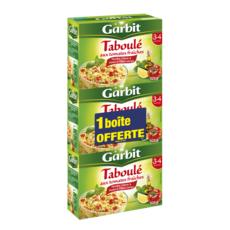 GARBIT Taboulé aux tomates fraîches menthe citron et huile d'olive 525gx2 +1 offert