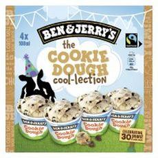 BEN & JERRY'S Mini pot de glace the cookie dough  4 pièces 288g