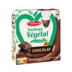 MATERNE Onctueux végétal gourde spécialité végétale au lait d'amande et chocolat 4x85g