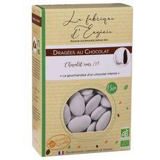 LA FABRIQUE D'EUGENIE Dragées au chocolat noir 74% blanc  500g