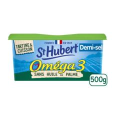 ST HUBERT Margarine oméga 3 sans huile de palme demi-sel 500g