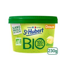 ST HUBERT Margarine bio doux pot carton tartine et cuisson 230g