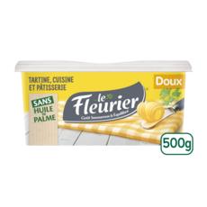 LE FLEURIER Margarine doux tartine et cuisson 500g