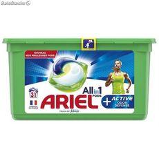 ARIEL Pods capsules de lessive tout en 1 + active 31 lavages 31 capsules