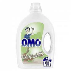 OMO Lessive diluée au lait d'amande  40 lavage 2l