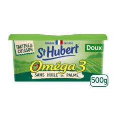 ST HUBERT Margarine oméga 3 doux sans huile de palme 500g