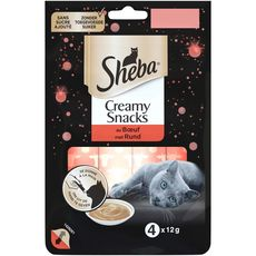 SHEBA Creamy Snacks Friandises au bœuf  4x12g
