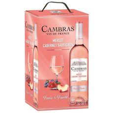 Cambras Vin de France Cambras Merlot Cabernet Sauvignon rosé