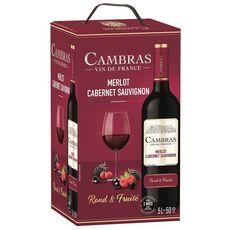 Vin de France Cambras Merlot Cabernet Sauvignon 5l