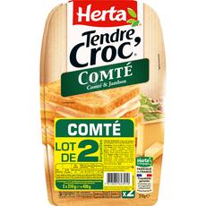 HERTA Tendre Croc' Comté et jambon 2 pièces  420g
