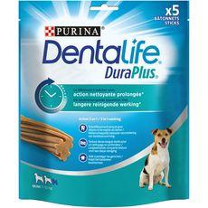 DENTALIFE Duraplus Friandises bâtonnets hygiène dentaire pour petit chien de 2 a 7 kilos 5 bâtonnets  170g