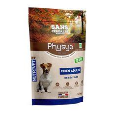 PHYSYO Croquettes sans céréales bio pour chien adulte  1.5kg