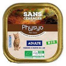 PHYSYO Terrine sans céréales bio pour chat adultes 100g