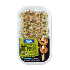 MITI Brochette de crevettes à la méridionale ail et persil 4 pièces 125g