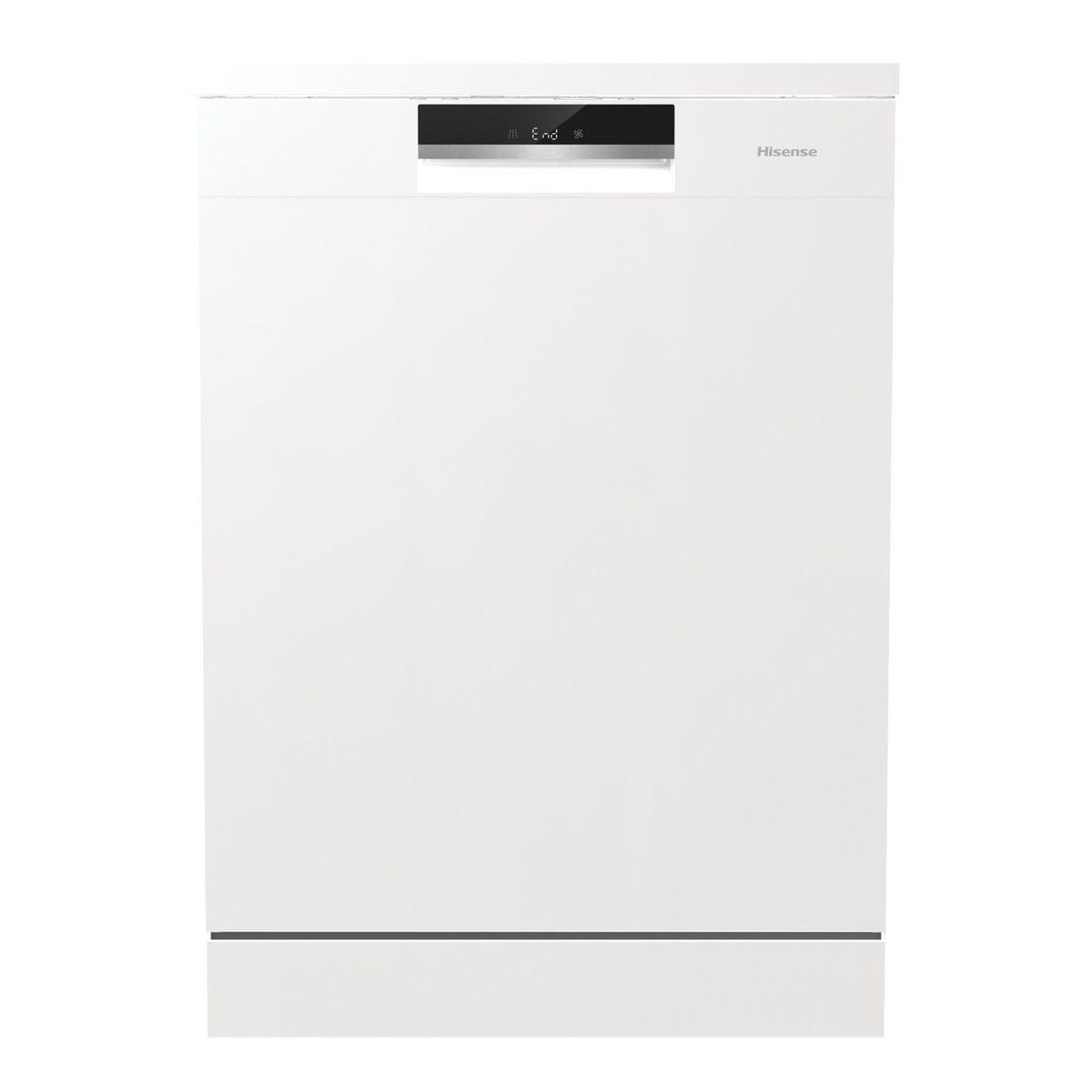 Lave vaisselle pose libre HS661C60W/X, 16 couverts, 60 cm, 44 dB, 5 programmes