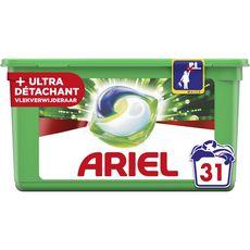ARIEL Capsules de lessive + ultra détachant 31 lavages 31 capsules