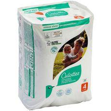 AUCHAN BABY Culotte absorbante pour bébé Taille 4 0 partir de 15kg 22 pièces