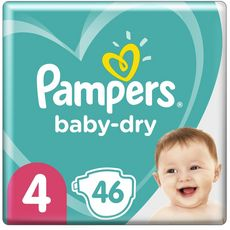 PAMPERS Baby-dry géant couches taille 4 (9-14kg) 46 couches