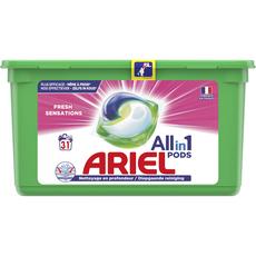 ARIEL Pods capsules de lessive tout en 1 fresh sensations 31 lavages 31 capsules