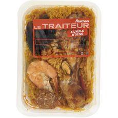 AUCHAN LE TRAITEUR Paëlla au poulet et aux fruits de mer 1 portion 350g