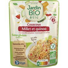 JARDIN BIO ETIC Couscous légumes millet et quinoa sans gluten 220g