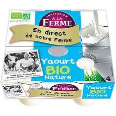 INVITATION A LA FERME Yaourt bio nature 4x125g