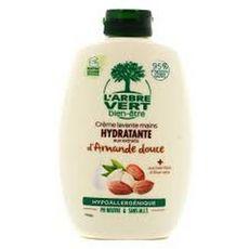 L'ARBRE VERT Crème lavante mains hydratante amande douce 300ml
