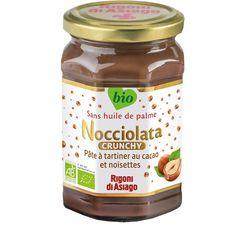 RIGONI DI ASIAGO Nocciolata crunchy pâte à tartiner au cacao et noisettes bio sans huile de palme 270g