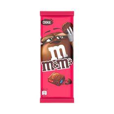 M&M'S Tablette de chocolat au lait avec M&M'S minis et éclats de cookies 165g