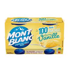 MONT BLANC Crème dessert saveur vanille 4x125g