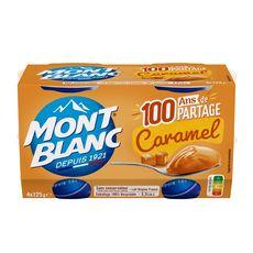 MONT BLANC Crème dessert saveur caramel 4x125g
