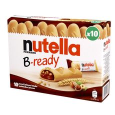 NUTELLA B-Ready gaufrettes fourrées de pâte à tartiner 10 biscuits 220g