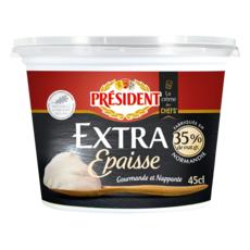 PRESIDENT Crème fraîche entière  extra épaisse Président 45cl 35% MG 45cl