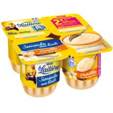 LA LAITIERE Semoule au lait saveur vanille 4x115g