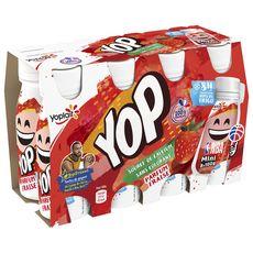 MINI YOP Yaourt à boire à la fraise 8x100g