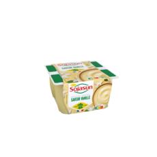 SOJASUN Dessert végétal à la vanille 4x100g
