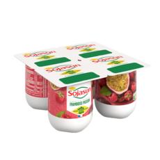 SOJASUN Dessert végétal au soja et aux framboises passions 4x100g