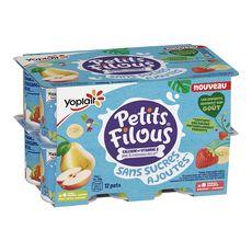 PETITS FILOUS Panaché de fromage frais aux fruits sans sucres ajoutés 12x50g
