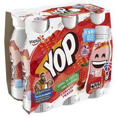 PTIT YOP Yaourt à boire aromatisé fraise 6x180g
