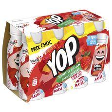 YOP Mini Yaourt à boire à la fraise  8x100g