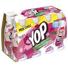 YOP Mini Yaourt à boire à la framboise 8x100g