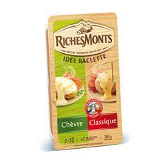 RICHESMONTS Duo de fromages à raclette nature et chèvre 365g