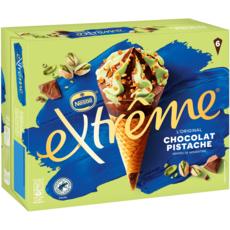 EXTREME Cône glacé chocolat pistache 6 pièces 426g