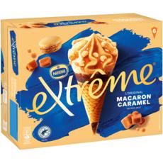 EXTREME Cône glacé au macaron, caramel et pointe de sel 6 pièces 396g