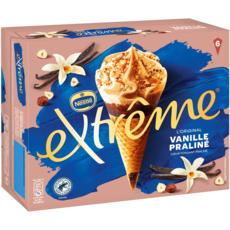 EXTREME L'original Cône glacé vanille praliné 6 pièces 426g