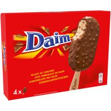 DAIM Bâtonnet glacé caramel et morceaux de daim 4 pièces 227g