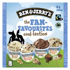 BEN & JERRY'S Mini pot de glace the fan-favourites cool-lection 4x100ml 4 pièces 292g