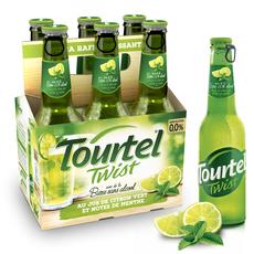 TOURTEL Bière Twist sans alcool 0,0% arôme jus citron notes de menthe bouteilles 6x27,5cl