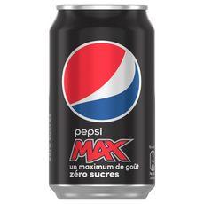 PEPSI MAX Boisson gazeuse aux extraits végétaux zéro sucre boîte 33cl